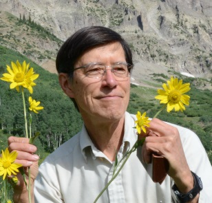 David Inouye with flowers.