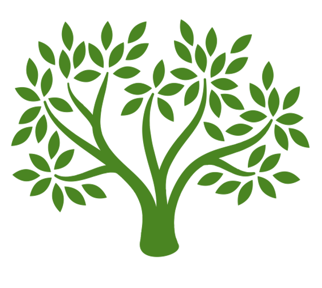 A graphic image of a leafy tree.