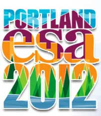 Official logo of the ESA Annual Meeting held in Portland in 2012