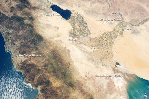 The dry Colorado River delta on June 21, 2013. Credit, NASA.