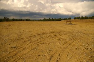 A typical natural gas well pad which has been prepared for interim reclamation. (Photo by Tamera Minnick)