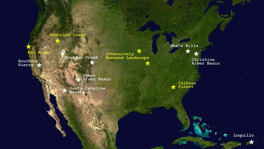 The National Science Foundation funds 10 Critical Zone Observatories. http://criticalzone.org/national/