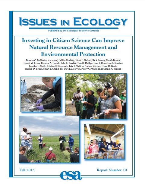 150930 issues in ecology 19 citizen science cover