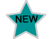New offerings. Image of a star with a teal color and silver stroke.
