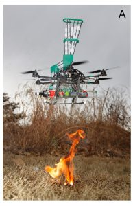 The UAS prototype for fire ignitions, from figure 4 of the paper. Credit, ESA.