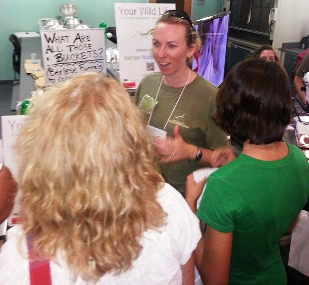 Holly doing science outreach at the NC Museum of Natural Sciences.  Credit: Matt Bertone