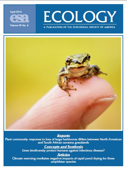 Ecology April cover