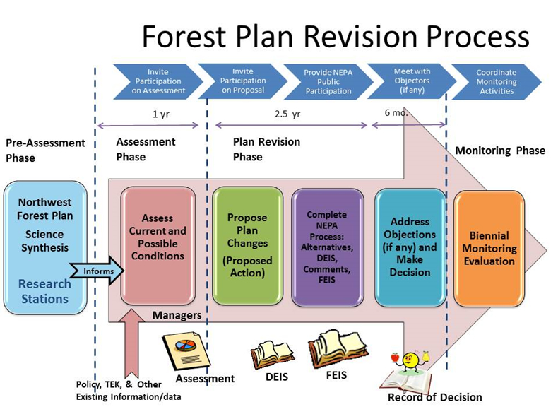 The NWFP science synthesis is part of the pre-assessment phase of forest plan revisions for R5 and R6. Credit, /research/science-synthesis/USDA Forest Service