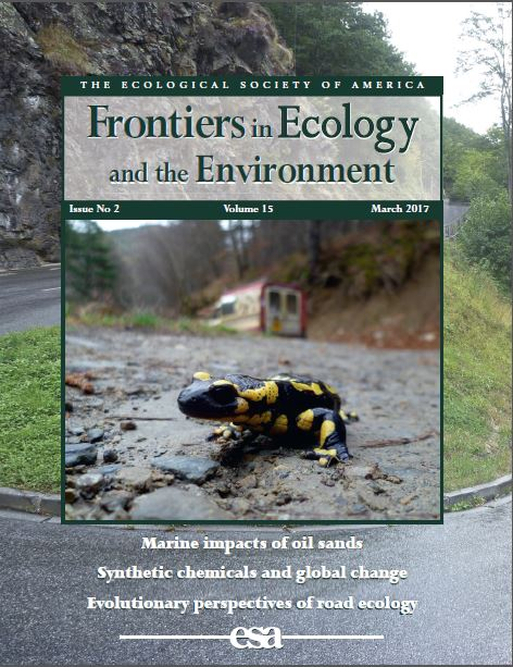 March cover of Frontiers in Ecology and the Evironment