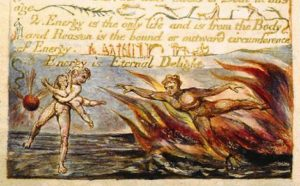 William Blake etching from The Marriage of Heaven and Hell, 1790