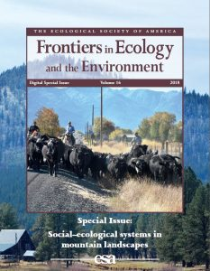 Cover of ESA Frontiers special issue on mountain ecosystems and society
