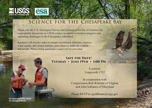 Invitation to the ESA-USGS Chesapeake Bay Round table.