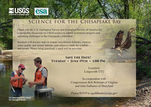 Invitation to the ESA-USGS Chesapeake Bay Round table.