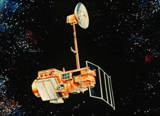 landsat 5 satellite artistic rendering