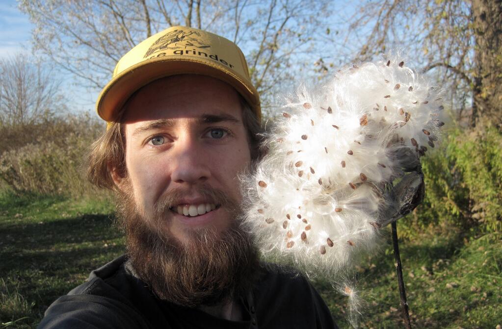 Nash Turley milkweed natureselfie earth day. Nash Turley milkweed natureselfie earth day