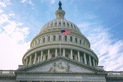 Close up image of the United States Capitol.