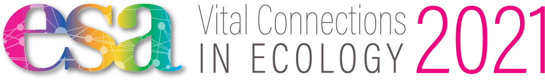 The official logo of the 2021 ESA Annual Meeting.