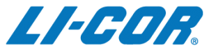 Official logo for LI-COR with letters in blue.