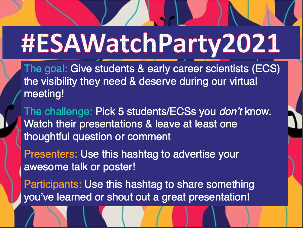 E S A watch party image.