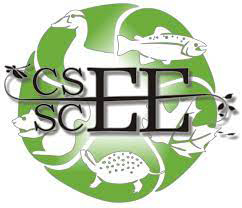 Logo for the C S E E includes the letters across a green circle featuring a duck, fish, turtle, scurrile and a couple of leaves overlaying.