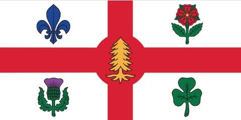 Official Flag of Montreal First Nations Symbol