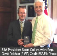 ESA President Collins presents Rep Reichert with BESC Award.jpg