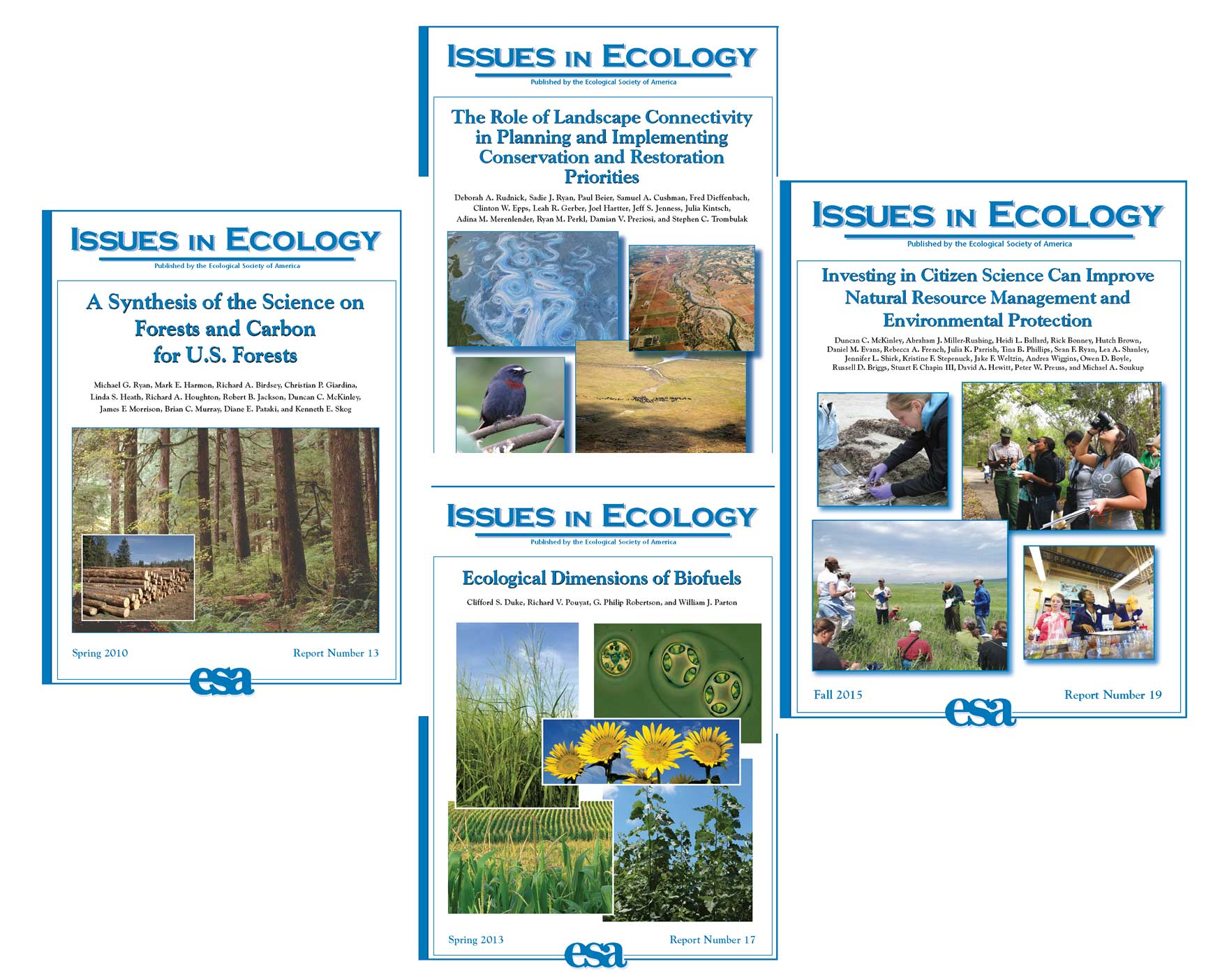 Issues In Ecology cover images