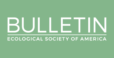 Logo with the words bulletin ecological society of america.