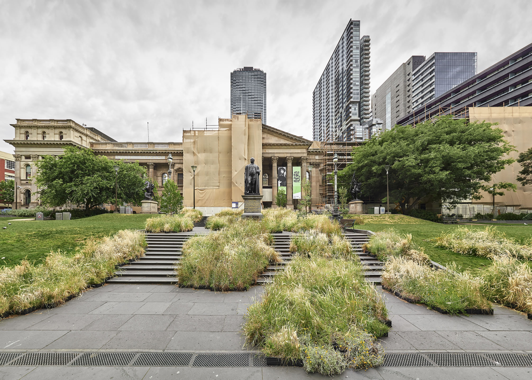 The Grasslands pop up park State Librray of Victoria by Matthew Stanto - Pop-up parks deliver big benefits in small spaces