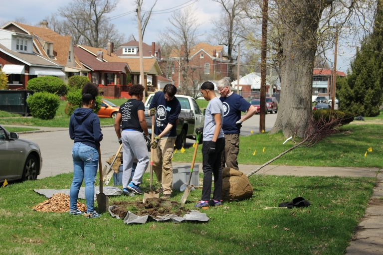 Chickasaw Neighborhood Tree Planting 768x512 - Louisville Grows receives environmental offsets from the Ecological Society of America