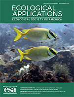 Publication cover image for Ecological Applications.