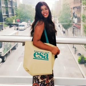 ESA student member Ajisha Alwin at the 2019 Annual Meeting
